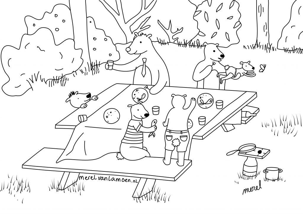kleurplaat_picknick_merelvanlamoen
